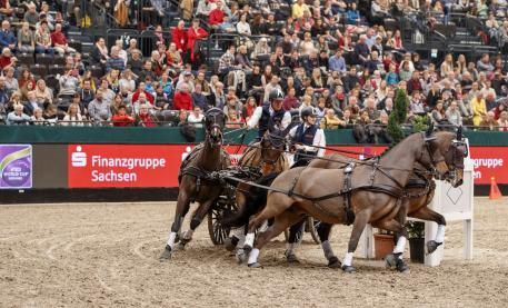 The 1st place for Boyd Exell (AUS) and his Four-in-Hand team in the FEI World Cup™ Driving qualification, Leipzig - Partner Pferd 2017