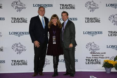 Christophe German of Markel, France, Mary Phelps, Markel Equine and Farm Insurance, Julian Bowen-Reese, Director Markel Agriculture and Equine