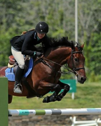 Bryn Sadler and Cezarro on their way to a 0,000 Brook Ledge Open Welcome Grand Prix win.