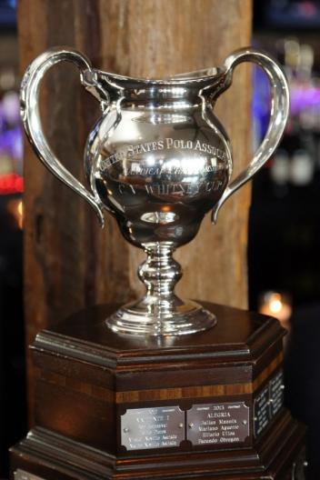 The C.V. Whitney Cup trophy.