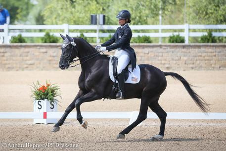 Callie Jones and Don Philippo (Photo: Annan Hepner/PS Dressage)
