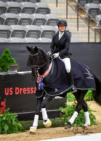 Nineteen-year-old Callie Jones topped a tough field of professional riders in the Fourth Level Freestyle Open Championship with her partner Don Philippo