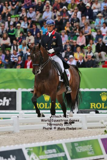 Carl Hester and Nip Tuck at the Alltech/FEI World Equestrian Games 2014