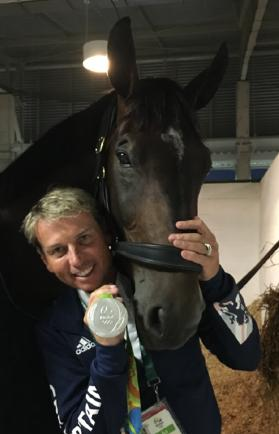 Carl Hester and Nip Tuck with team Silver