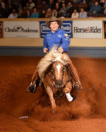 Two-time National Reining Horse Association (NRHA) Futurity Finals winner Casey Deary uses the TheraPlate to keep his horses in peak condition (Photo courtesy of Waltenberry, Inc.)
