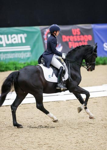 In their first trip to Kentucky, Chase Hickok of Wellington, Fla. and Sagacious HF powered to victory in the Grand Prix Open Freestyle Championship at the 2016 US Dressage Finals presented by Adequan®.