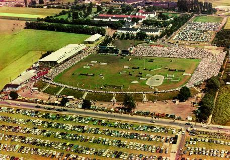 An aerial photo of the showgrounds in the 1960s is available here (Photo: CHIO Aachen archive)
