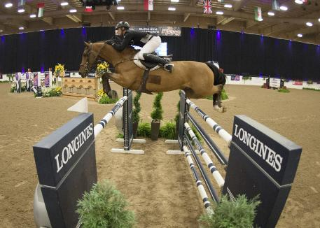 Germany's Christian Heineking and Aje Cluny had luck on their side in Las Vegas to win by 1/100th of a second in the fifth leg of the Longines FEI World Cup™ Jumping 2016/2017 North American League Western Sub-League.