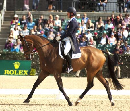 Clark Montgomery and Loughan Glen seized a commanding lead at the end of dressage at Rolex Kentucky.