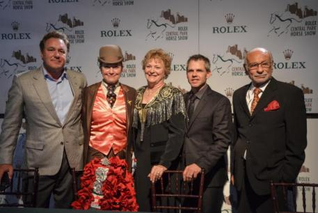 Mark Bellissimo, Sally Wheeler-Maier, Cynthia Richardson, Ted Carson and Dr. Nasr Marei at the closing press conference. Photo by Meg Banks for Equestrian Sport Productions