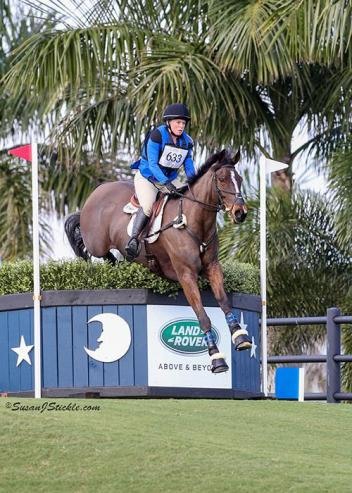 Colleen Rutledge and Covert Rights compete at the 2016 Wellington Eventing Showcase at PBIEC.