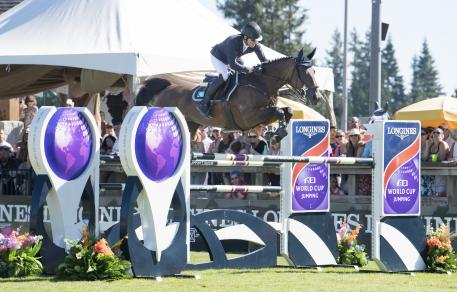 Ireland's Conor Swail and Flower take the honours at the Longines FEI World Cup™ Jumping Langley (CAN) Sunday 27 August