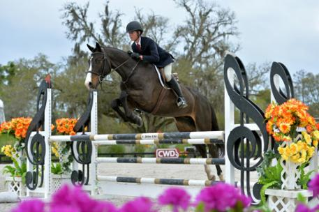Cooper Dean and Denver S on their way to a HITS Equitation Championship win.