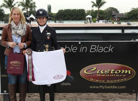 Lisa Wilcox,  Custom Saddlery MVR Award,  2016 Adequan Global Dressage Festival