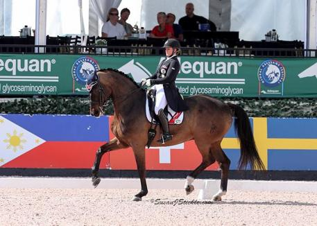 Diana Porsche (AUT), the number one rider on the FEI Youth Dressage World Ranking List-U25, and DiSandro.