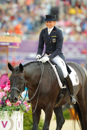 With former Verden Auction Horse Diva Royal Dorothee Schneider won Team Silver in London