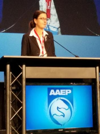 Dr. Watts presenting at the 2016 AAEP conference