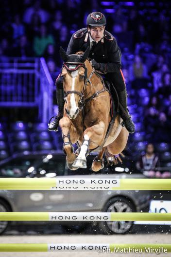 Emanuele Gaudiano (ITA) riding Chalou during the MASTERS ONE LAITERIE DE MONTAIGU, Longines Masters Paris at Paris Nord Villepinte on December 01st, 2017 in Paris, France