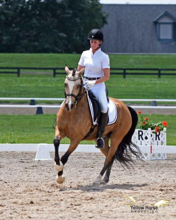 California's Emily Lasher and The Hot Topic of Spring Song took command of the Open FEI Test of Choice division on Friday at the National Dressage Pony Cup Championship Show.