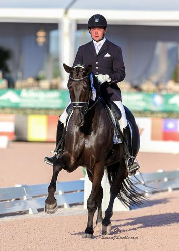 Endel Ots and Lucky Strike return to the 2016 Longines FEI World Breeding Championships for Young Dressage Horses. (