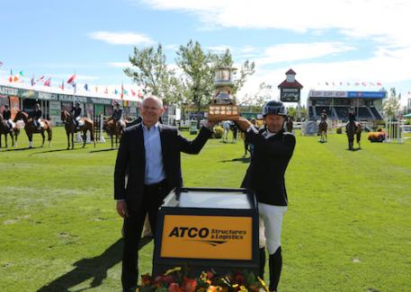 Eric Lamaze in his winning presentation with Steve Lockwood, President, ATCO Structures & Logistics