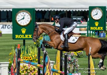 Canadian Olympic Champion guides Fine Lady 5 to victory in the $35,000 ATCO Structures & Logistics Cup on September 10 at the Spruce Meadows 'Masters' tournament in Calgary, AB.Photo © Starting Gate Communications