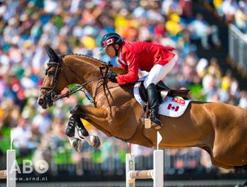 Eric Lamaze and Fine Lady 5, owned by Artisan Farms and Torrey Pines Stable, jumped another clear round to put them at the top of the individual leaderboard and lead Canada to fourth in the Team Final at the 2016 Olympic Games in Rio de Janeiro, Brazil.