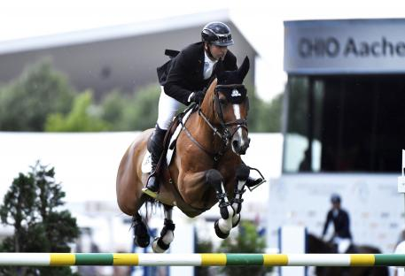 Eric Lamaze and Fine Lady, winners of the first qualifier for the Rolex Grand Prix at CHIO Aachen 2017