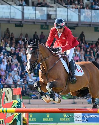 Eric Lamaze jumped double clear with Coco Bongo to lead Canada to a second place finish in the $460,000 BMO Nations' Cup (Photo: Starting Gate Communications)