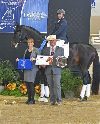California's Ericka Reinig will soon be headed to the US Dressage Finals in Kentucky with four horses in tow including Bellisambrosso RTH. (Photo: Jennifer M. Keller)