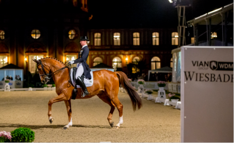 Fabienne Lütkemeier and Qui Vincit Dynamis, winners of the WDM Grand Prix Freestyle presented by VIAN GROUP.