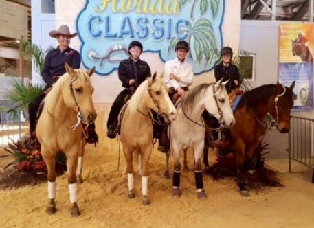 Para reiners at the 2017 Florida Reining Classic: Lauren Barwick, Jennifer Flanagan, Cole Jacobs, Holly Jacobson