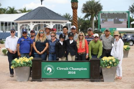 David Gochman was named the Osphos Overall Hunter Owner for the  second year in a row and Sophie Gochman was once again the Osphos  Overall Pony Hunter Rider.