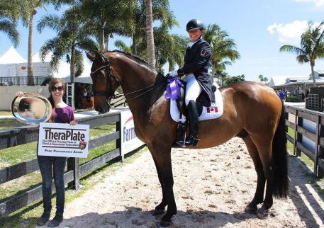 Evi Strasser, Rigaudon Tyme, TheraPlate Peak Performance Award, Adequan Global Dressage Festival