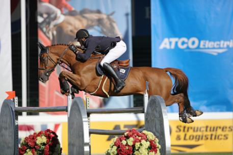 Gregory Wathelet (BEL) riding Algorhythem (Photo: © Spruce Meadows Media Services)
