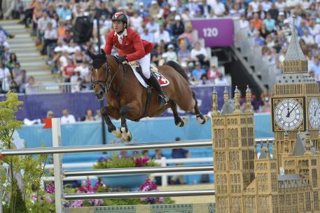 Switzerland's Steve Guerdat and Nino des Buissonnets pictured here at the 2012 Games will be going for a record-breaking back-to-back double of individual gold medals in Jumping at the Rio 2016 Olympic Games.