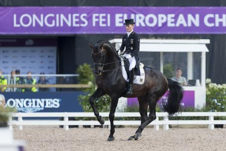 Helen Langehanenberg and Damsey FRH produced the top score to put Team Germany in the driving seat on the first day of the Dressage Team competition at the Longines FEI European Championships 2017 in Gothenburg (SWE).