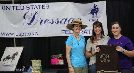 The Horse of Course awarded eight High Score Award embroidered coolers at the Green Country Dressage Classic I & II at the Claremore Expo Center in Oklahoma