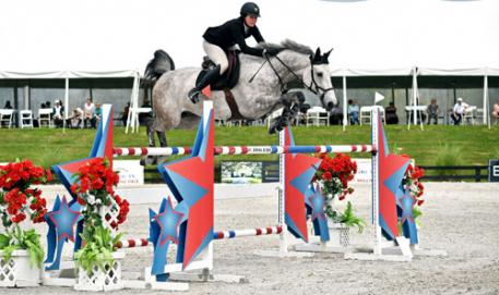 Hunter Holloway and Cassevel on their way to a $25,000 SmartPak Grand Prix win.
