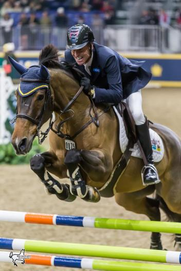 Ian Millar of Perth, ON, riding Dixson is aiming for a record 13th Canadian Show Jumping Championship title after winning the opening round of competition on Friday, November 3, at the Royal Horse Show in Toronto, ON.