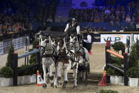 The Netherlands' IJsbrand Chardon was thrilled to win the FEI World Cup™ Driving leg in Mechelen (BEL) for the first time in his career tonight