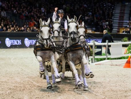 Title holder IJsbrand Chardon (NED) is one of the top ten drivers again in the FEI World Cup™ Driving season 2016/2017
