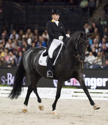 Happy days! Isabell Werth and Weihegold FRH were convincing winners of today's third leg of the FEI World Cup™ Dressage 2017/2018 Western European League on home ground at Stuttgart, Germany