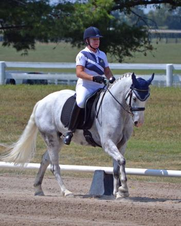 Jane Renner & Wildwych Bamboozle won both First Level Open and Freestyle at the National Dressage Pony Cup. (Photo: Jennifer M. Keeler)