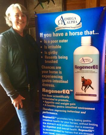 At the Klimke-Hassler Dressage Training Symposium, Janet Youse won a customized $500 gift package of Omega Alpha supplements for her horses