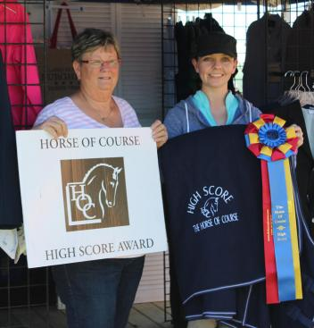 Beth Haist, The Horse of Course, Janine Little, Horse of Course High Score Award, 2016 Adequan Global Dressage Festival