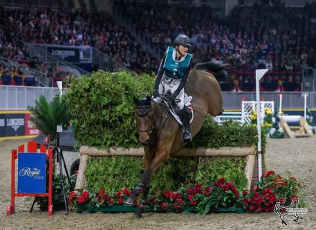 Two-time Canadian Olympian Jessica Phoenix of Cannington, ON, won the $20,000 Horseware Indoor Eventing Challenge on Saturday, November 4, at the Royal Horse Show in Toronto, ON.