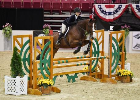 """Jessica Stone won the USHJA 3'3"""" Jumping Seat Medal Final - East in Saturday, September 29. Photo by Shawn McMillen Photography"""