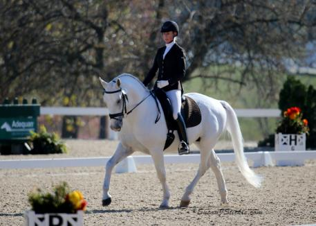 Tempel Lipizzan trainer Jessica Starck rode Maestoso Alfaya II to victory in the First Level Freestyle Open Championship at the 2016 US Dressage Finals presented by Adequan®.
