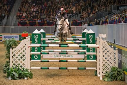 Jill Henselwood and Farfelu du Printemps, owned by John Madigan, won the 00,000 Greenhawk Canadian Show Jumping Championship at the 2015 Royal Horse Show® on Saturday, November 7.